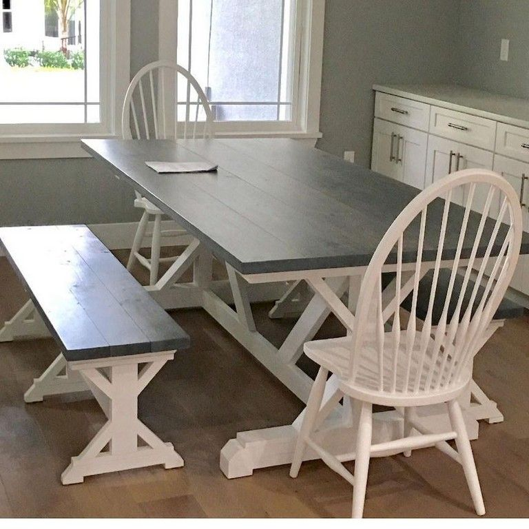 55 SMART FARMHOUSE KITCHEN TABLE DESIGN IDEAS AND MAKEOVER