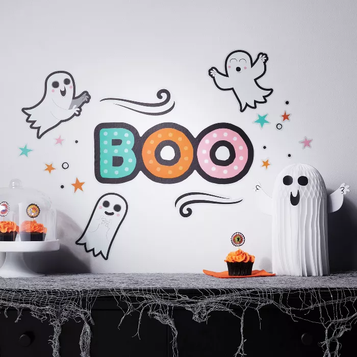 Boo Ghost Halloween Wall Art Hyde Eek Boutique Target Halloween Wall Art Wall Art Halloween Ghosts