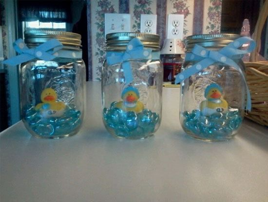Rubber Duck Mason Jar Decor | Click Pic for 30 DIY Baby Shower Ideas for Boys | DIY Baby Shower Decorations for Boys & 30 DIY Baby Shower Ideas for Boys | Pinterest | Diy baby shower ...
