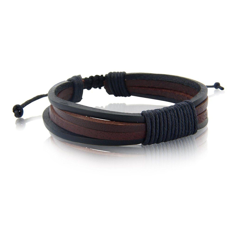 Image Result For How To Make A Mens Leather Bracelet