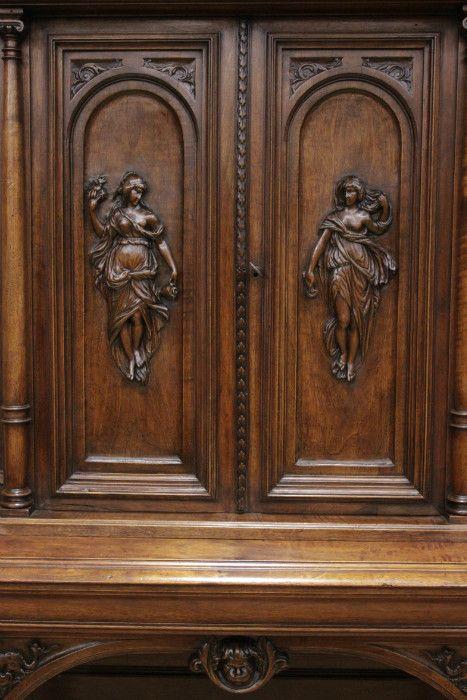 винтажный мебель - алтарь ренессанс из ореха, 19 век