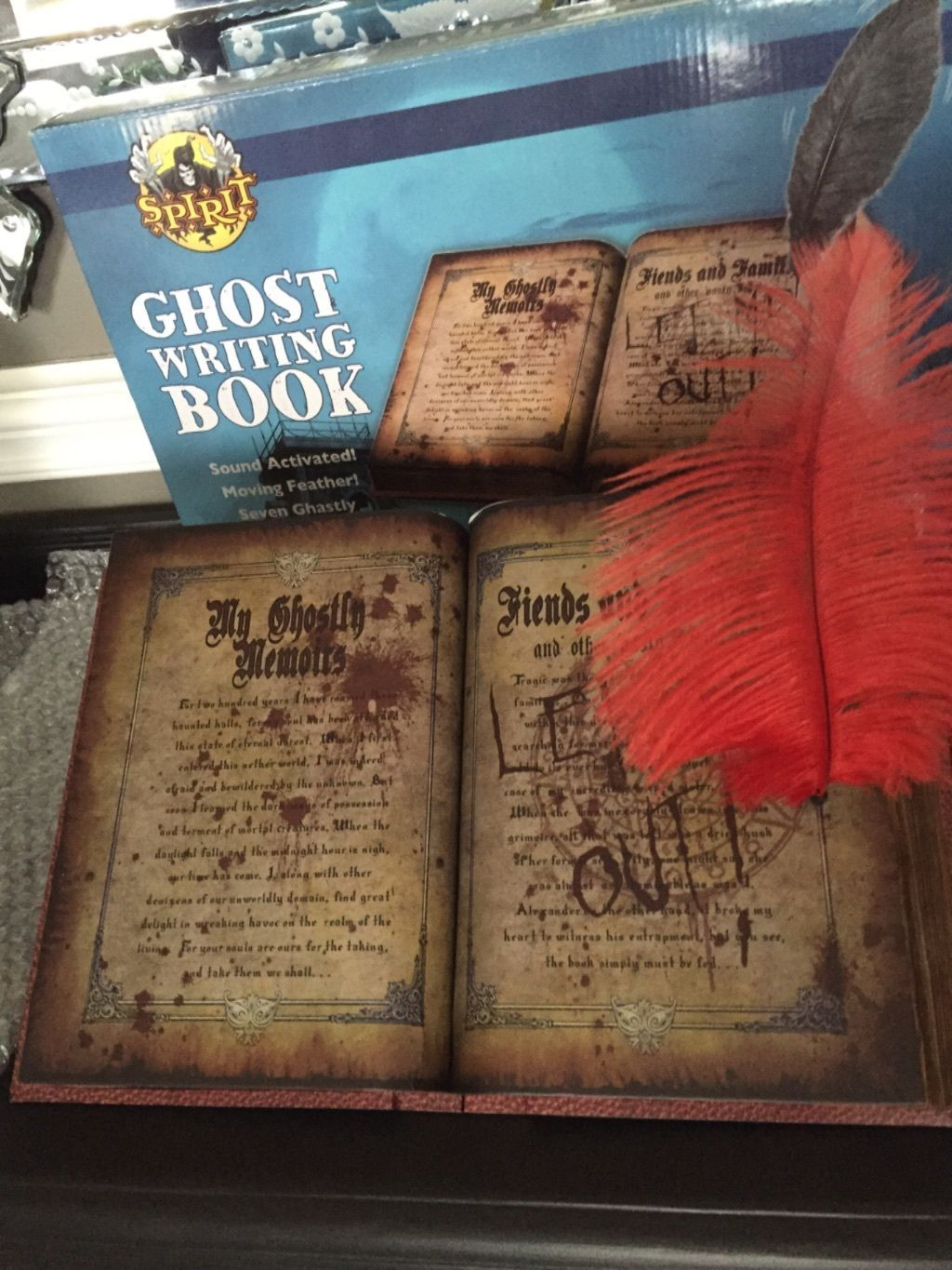 Ghost Writing Book Animated Halloween Spell Book Prop | eBay