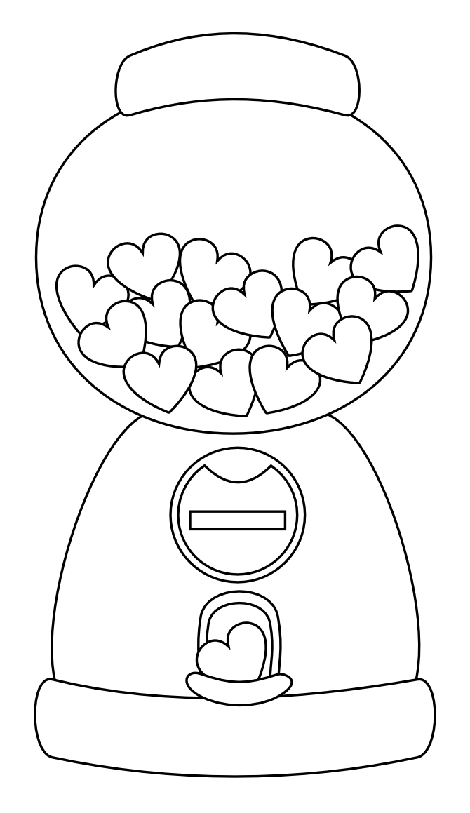 Little Scraps of Heaven Designs: Heart Gumball Machine Digi stamp ...