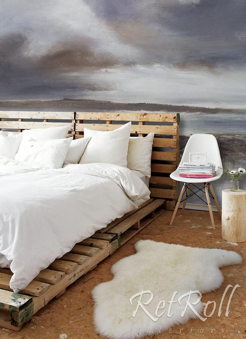 Stormy Beach Removable Wallpaper Design Wall Covering