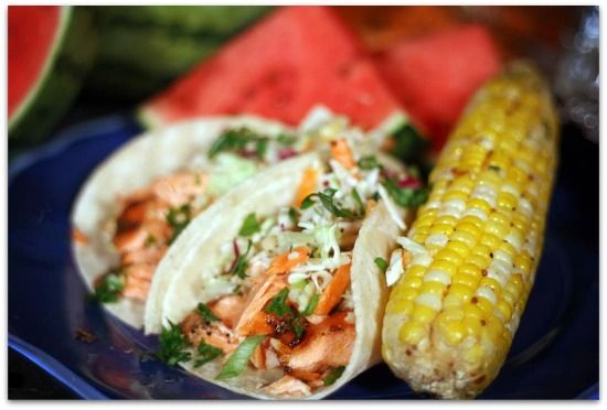 Salmon Fish Tacos via Chef Nicole - CT Bites - Restaurants, Recipes, Food, Fairfield County, CT