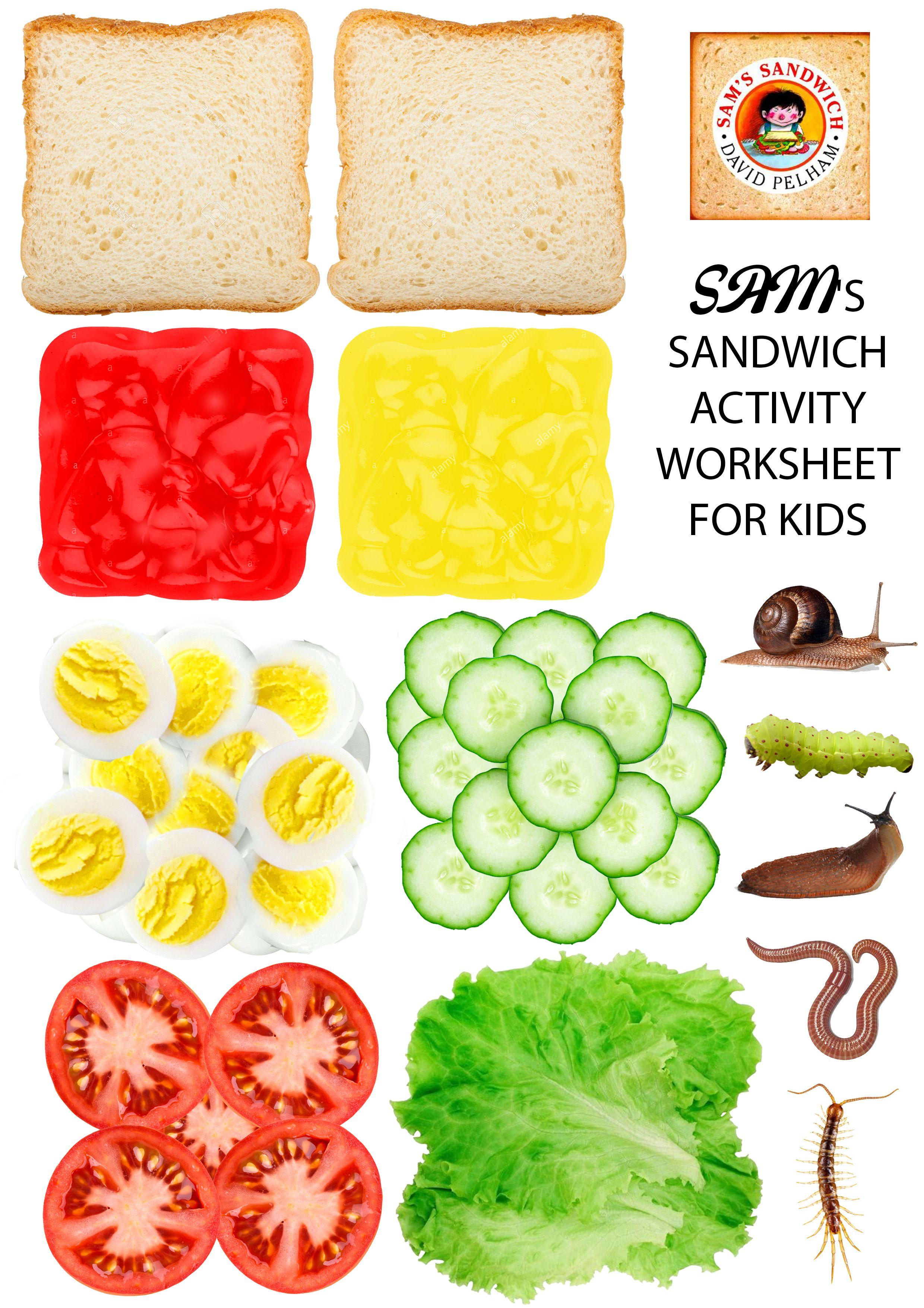 Sam S Sandwich Activity Printout In