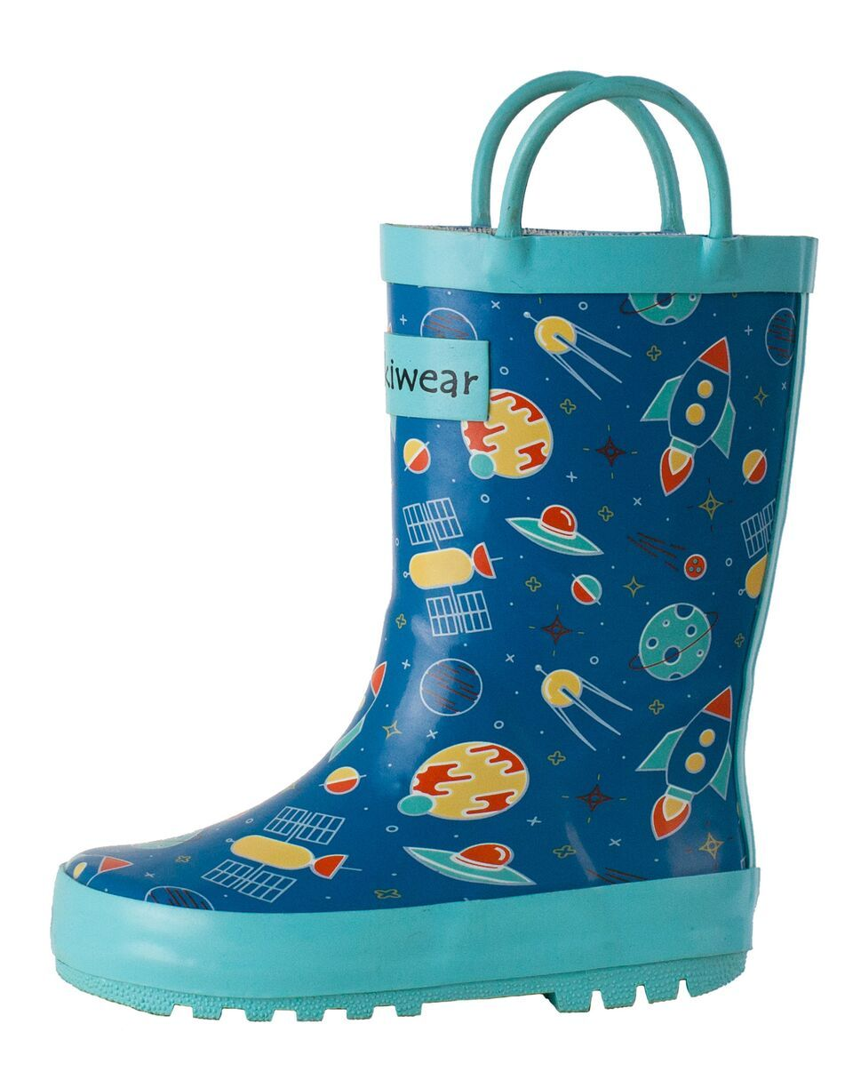 32906a7a1759a Oaki - Outer Space Loop Handle Rubber Rain Boots in 2019 | Products ...