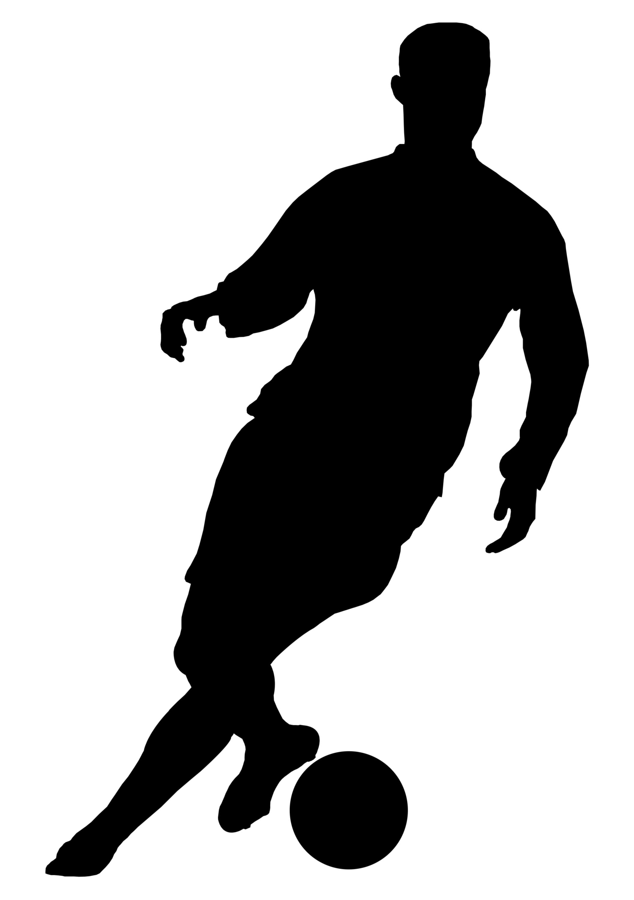 Soccer Football Players Silhouettes Football Players