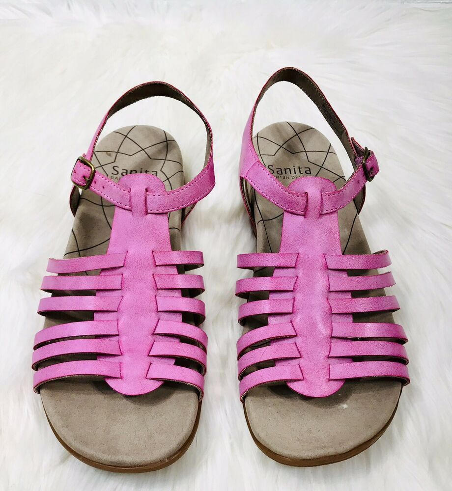 9b4702332a0 Sanita Womens Catalina Cadence Pink Gladiator Sandals US Size 8.5 - 9 EUR  39