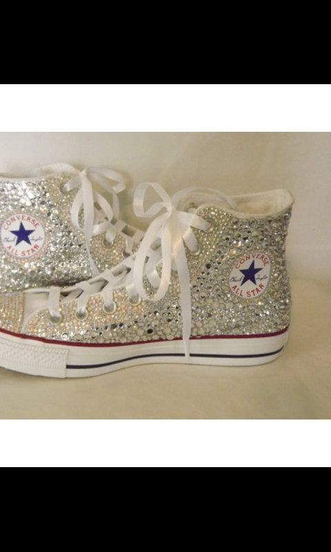 329f2736c6260c Custom Bling Wedding Converse by SmithsDecorForYouLLC on Etsy ...