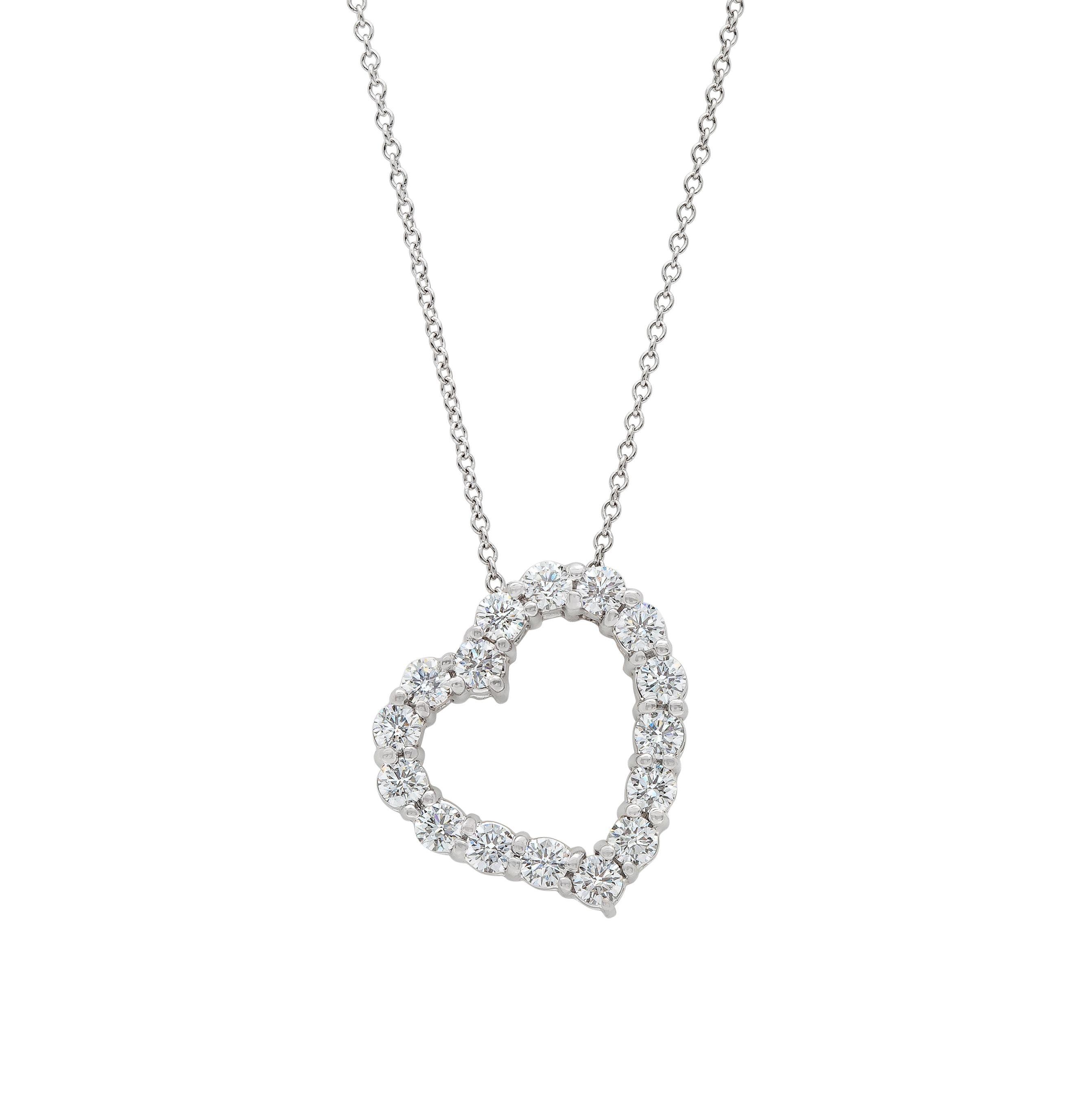 Gordon James Tilted Heart shaped Diamond Pendant 1 04 carat total