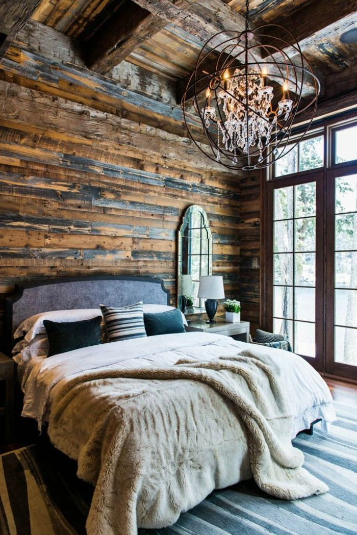 schlafzimmer mit attraktiver deckenbeleuchtung - und kreativer