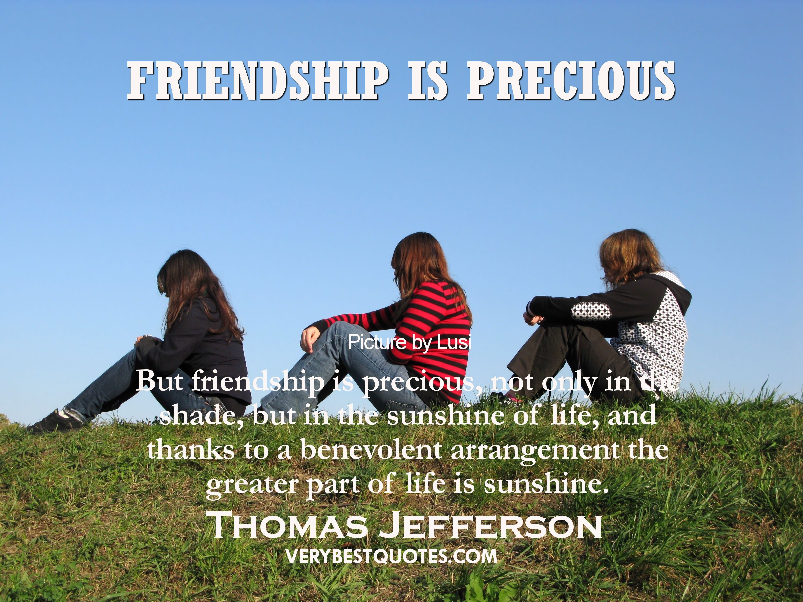 Quotes About Life And Friendship Inspirational But Friendship Is Precious Not Only In The Shade But In The