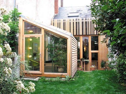 Extension bois maison archi home archi pinterest - Extension bois sur maison pierre ...