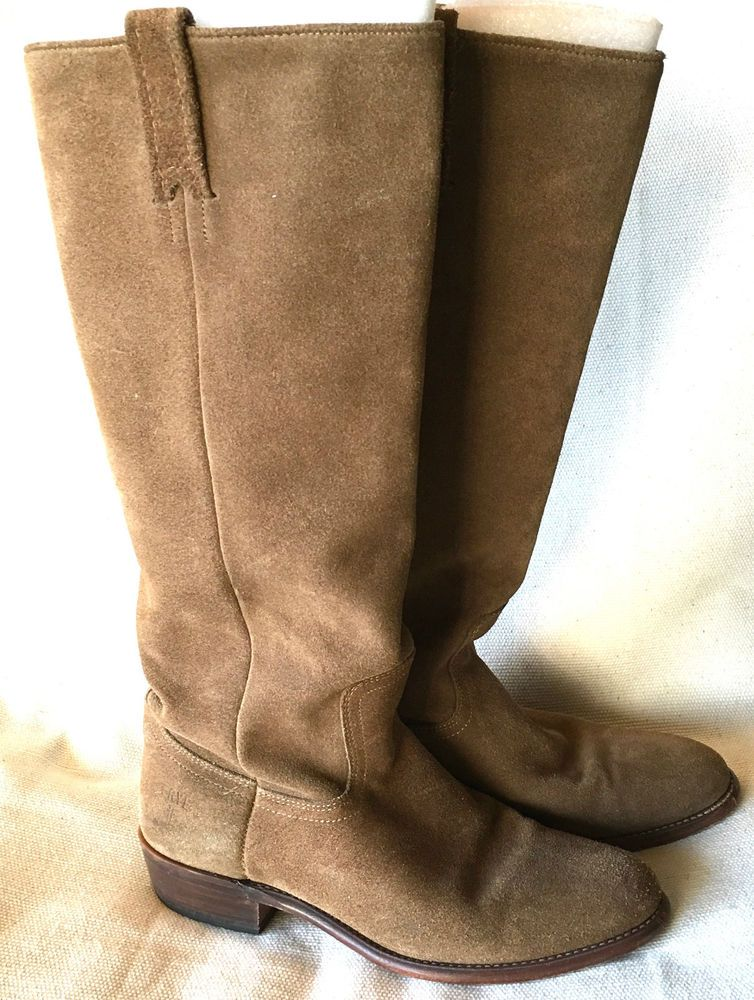 Women's Frye Bari #77072 Tall Brown Suede Leather Riding Boots ...