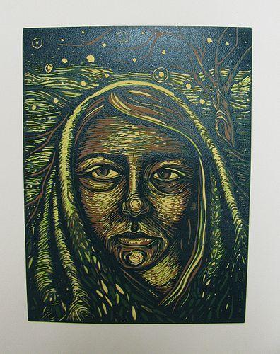Color Reduction Lino Print