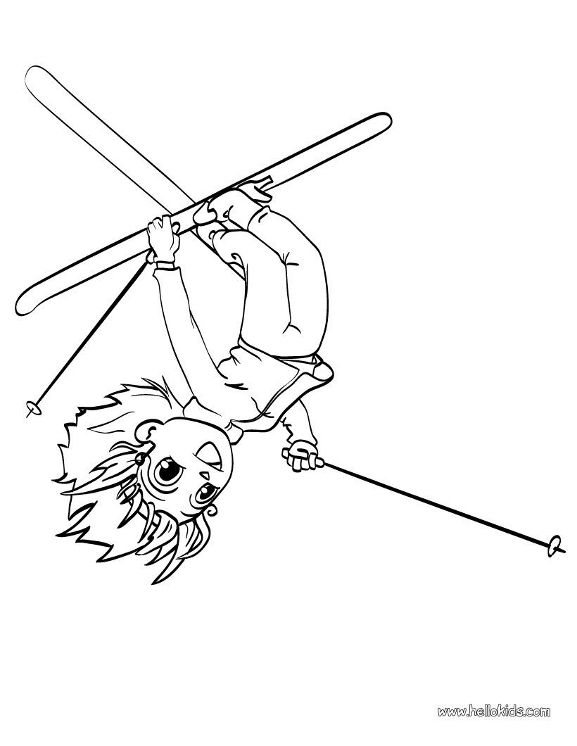 ski acrobat coloring page. More sports coloring pages on hellokids ...