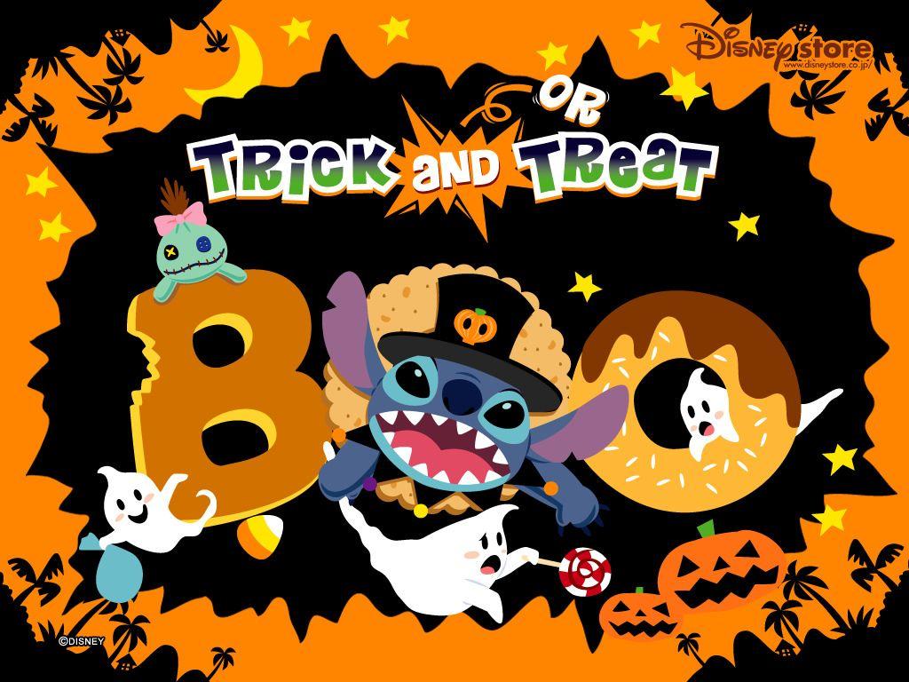 Trick and Treat Stitch Halloween Wallpaper   Stitch & Angel ...