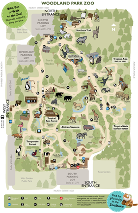 Pin By Diana Haley On Favorite Places I Ve Touched Woodland Park Zoo Zoo Map Zoo Signage