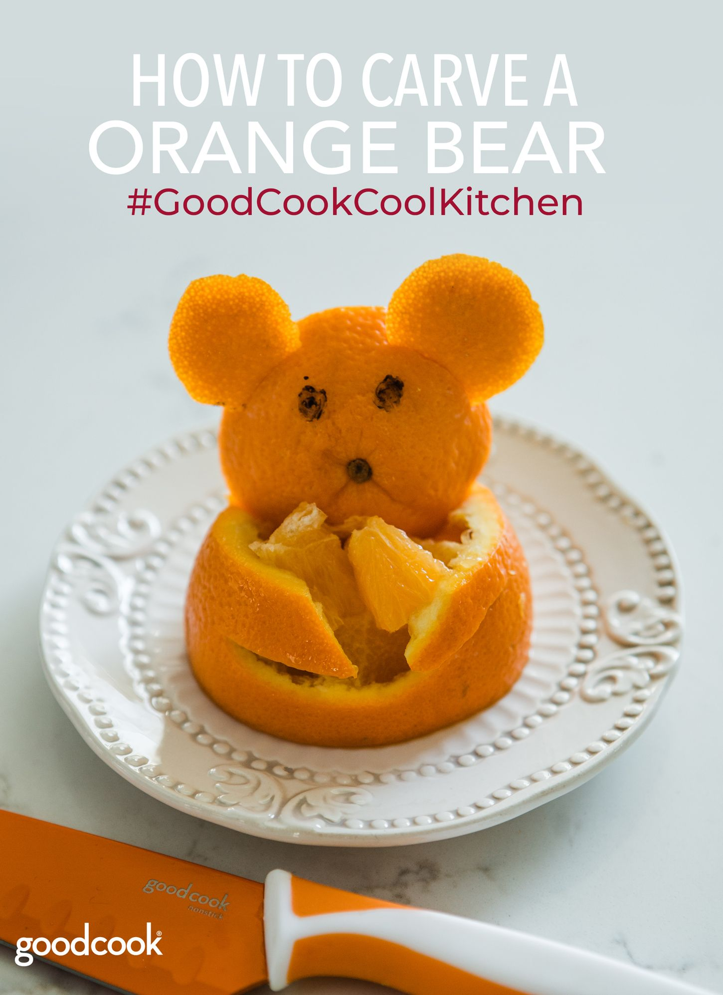 Show Off Your Knife Skills with This Orange Bear