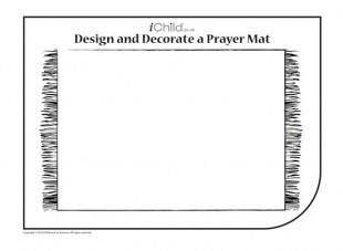 Mat Coloring Sheet Ramadan Activities Islamic Kids Activities