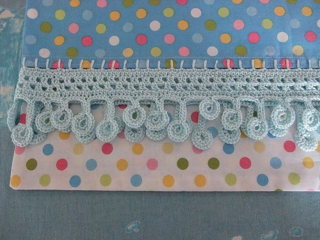 Crochet edged pillowcase  Oh wow. Love this