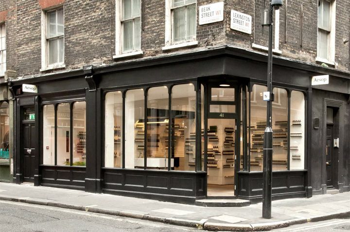 black storefront system contemporary