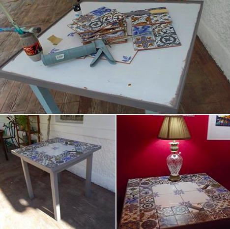 Relooker Une Table Basse Avec Du Carrelage Relooker Une Table Basse Table Basse Customiser Table Basse