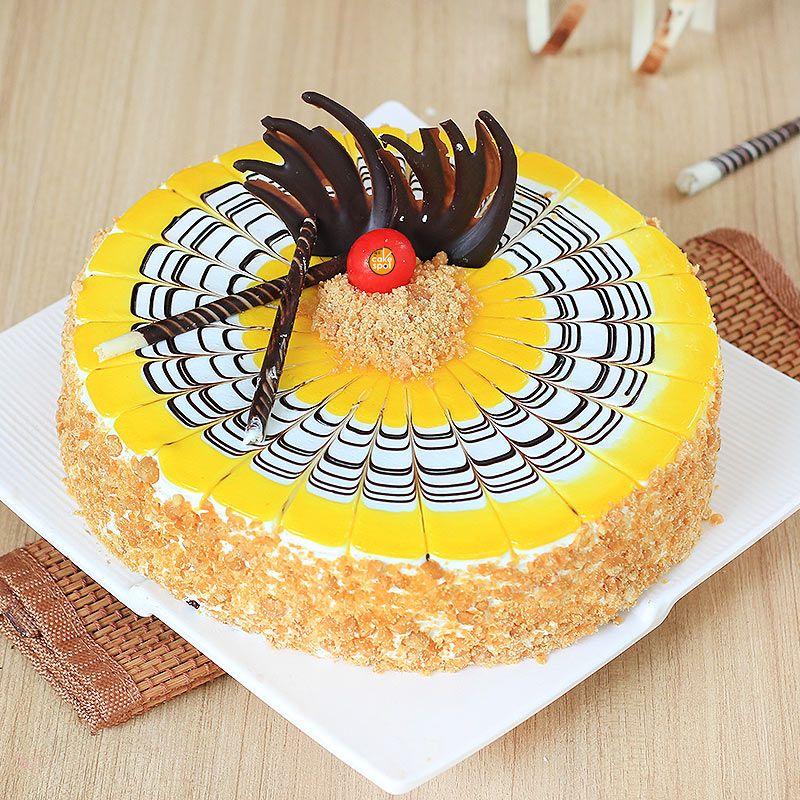 Butterscotch round shape cake in 2020 butterscotch cake