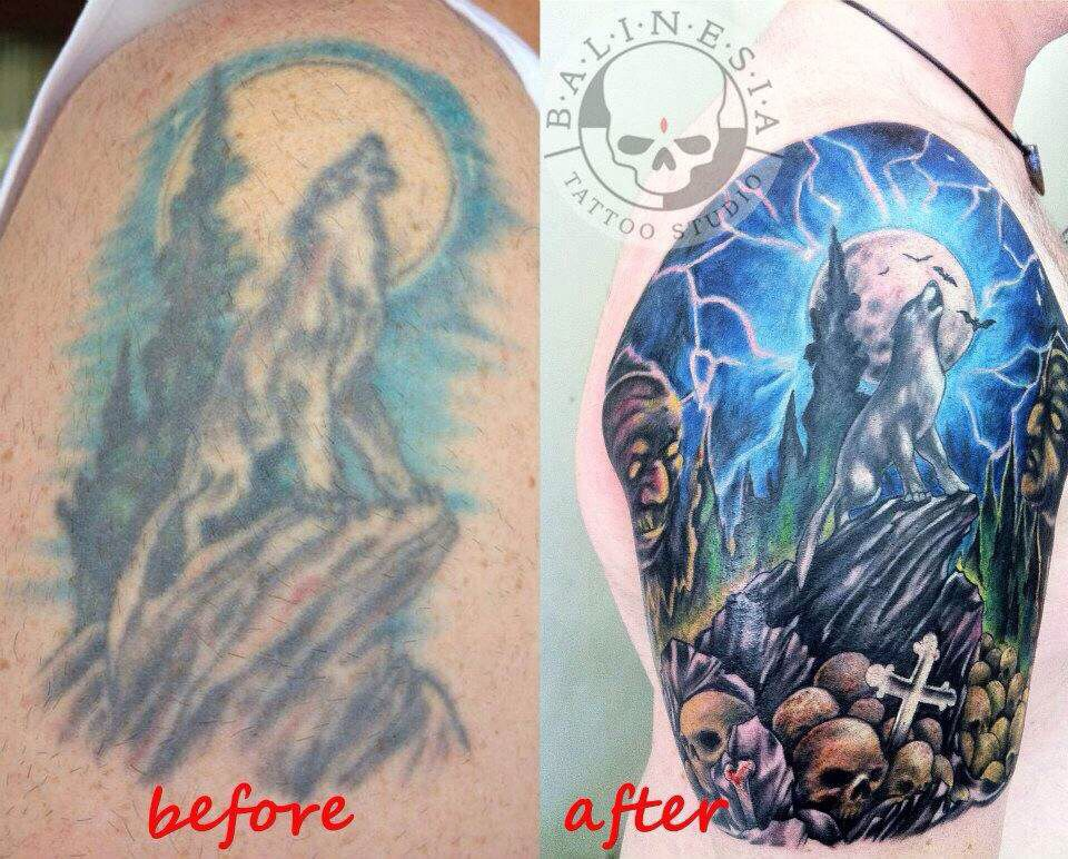 9a51ec561 Before and after coverup. Art by Ibud Nyoman of Balinesia 2 | Tattoo ...