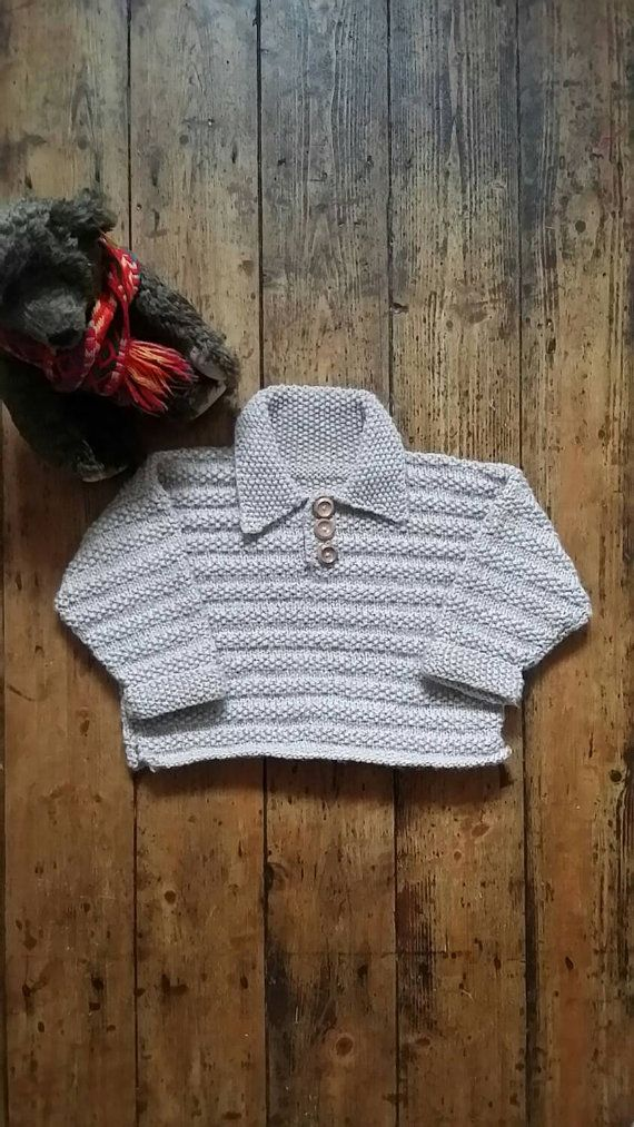 Baby boy jumper oatmeal sweater boys clothing rustic knitted top children clothes chunky sweaters winter tops Dolly Topsy Etsy UK  Boys chunky