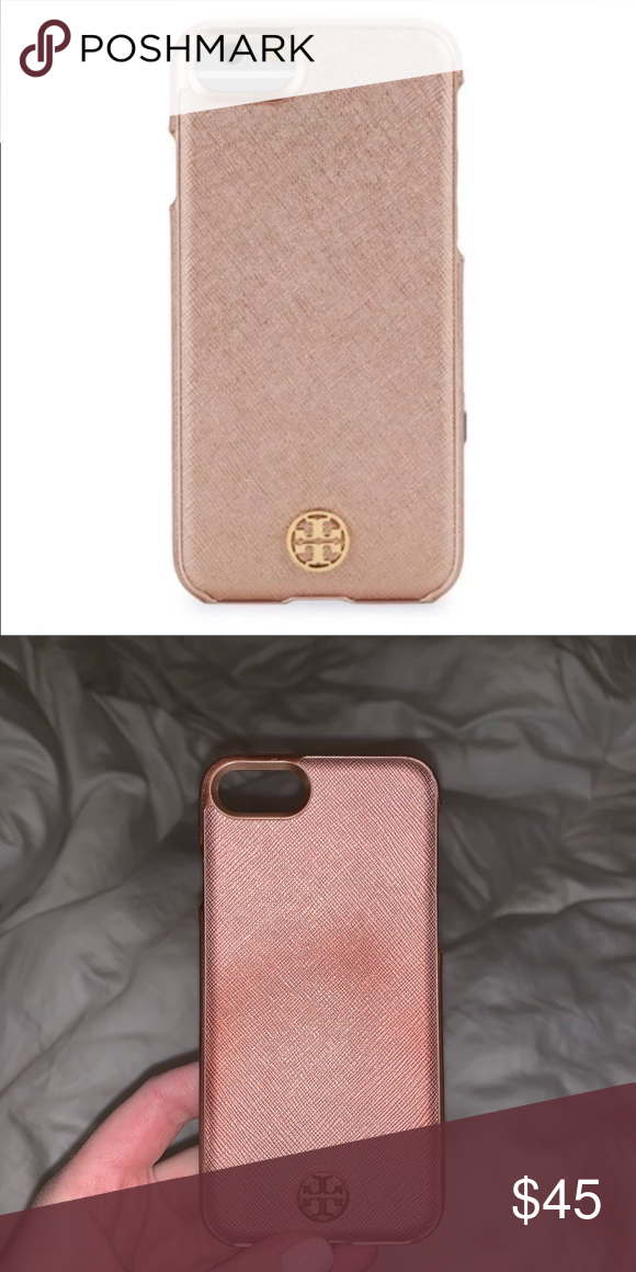 sale retailer 6e6fc d7039 Tory Burch Rose Gold iPhone 7 case Used but still in good condition ...