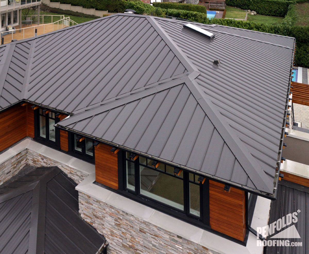 Charcoal Gray Metal Roof Ziplok Charcoal Close Up West