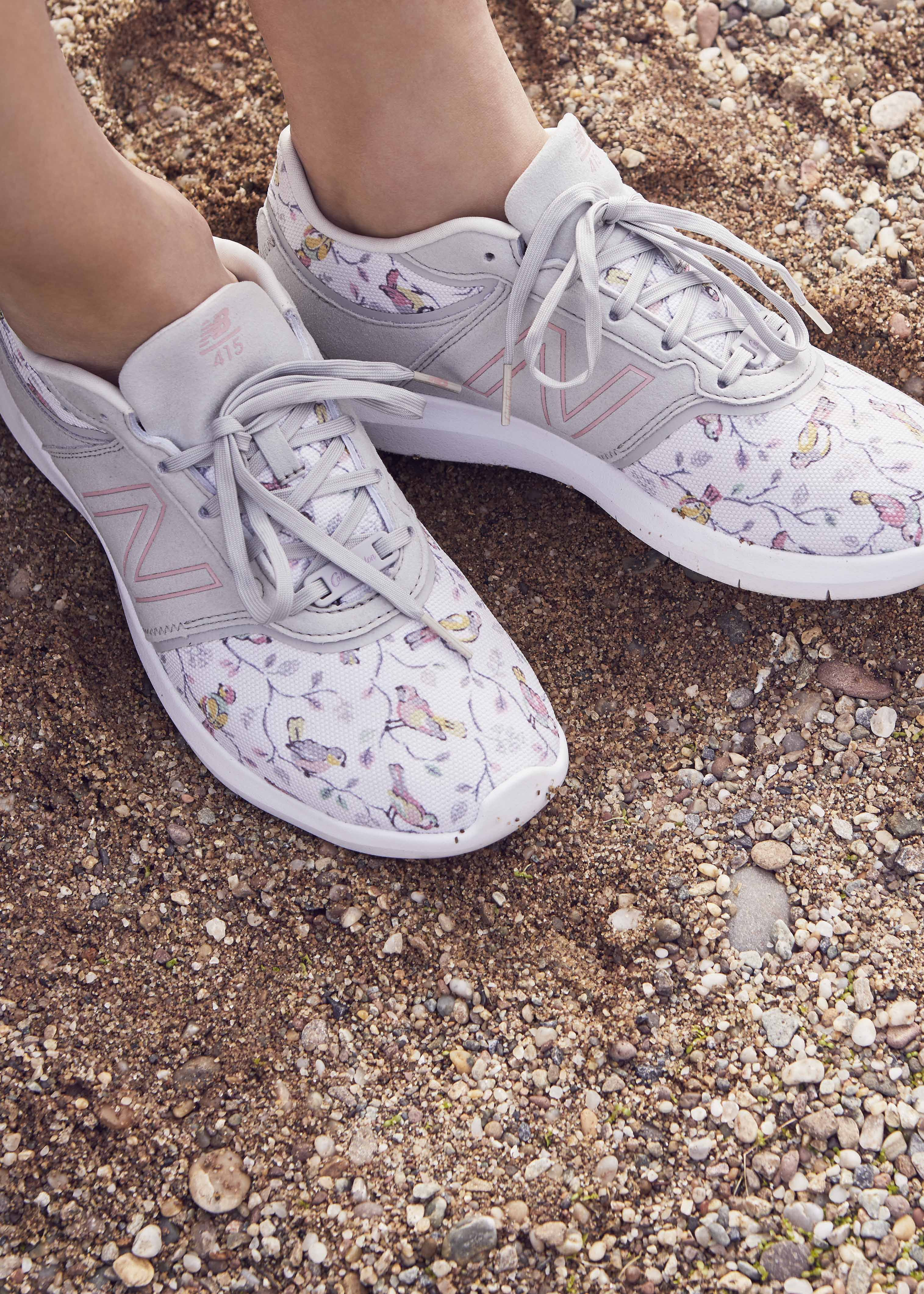 sports shoes 94b77 fcf87 We ve taken a New Balance iconic 415 style and blended it with our delicate  classic Cath Kidston print Little Birds, a soft grey print covered in small  ...