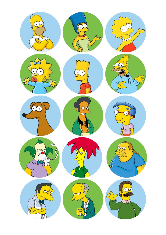 Imprimible Docx Google Drive Los Simpson Cumpleaños Fiesta De Simpsons Personajes De Los Simpsons