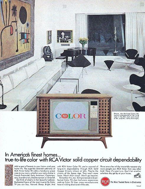 1966 Rca Victor Color Television 1960s Decor Vintage Television Decor
