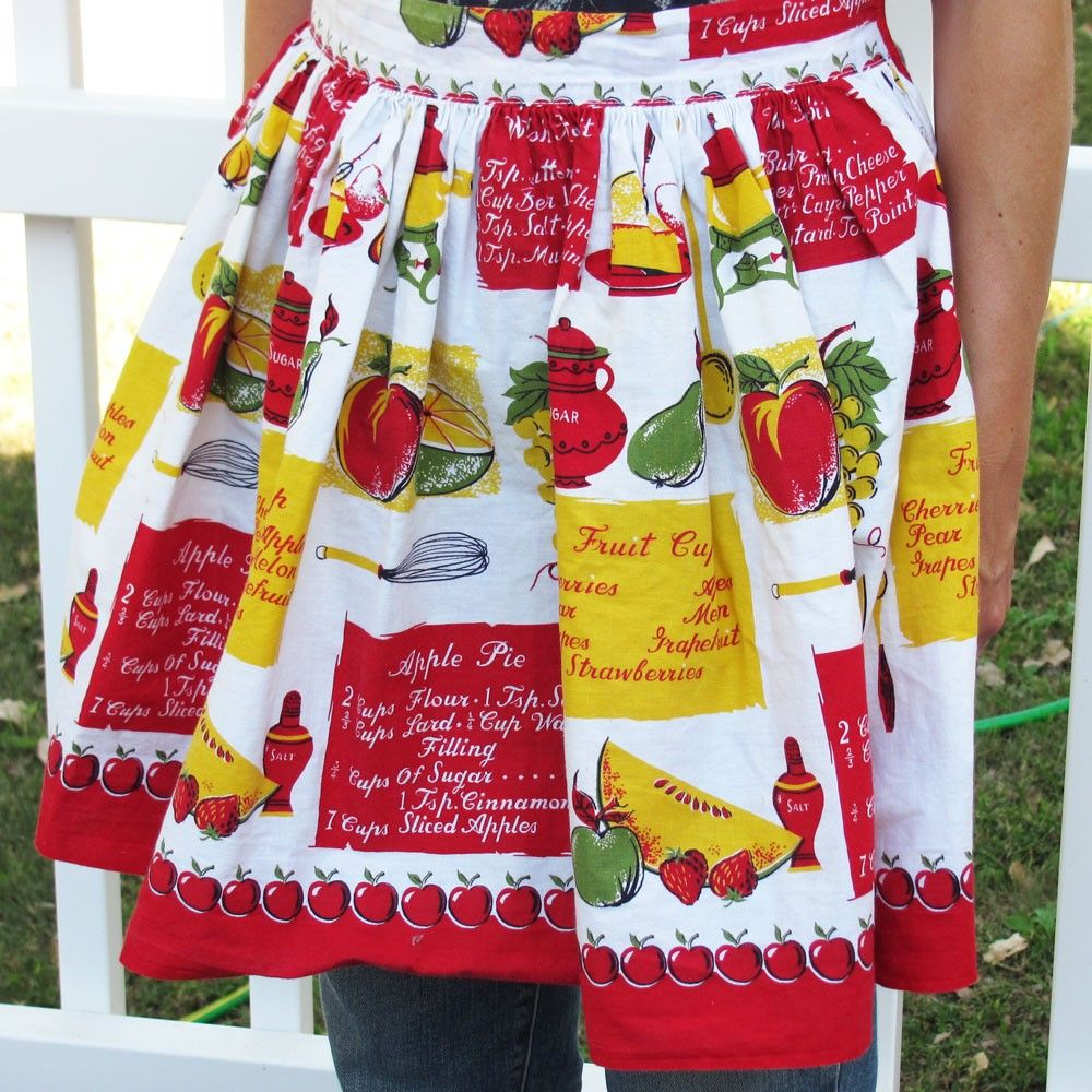Red Vintage Kitchen Apron