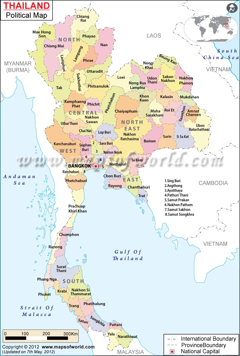 Super Political Map of Thailand | Projects to Try | Pinterest | Asia  WM02