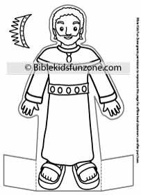 King David Craft Stand Up Bible Character For Kids To Color Vbs