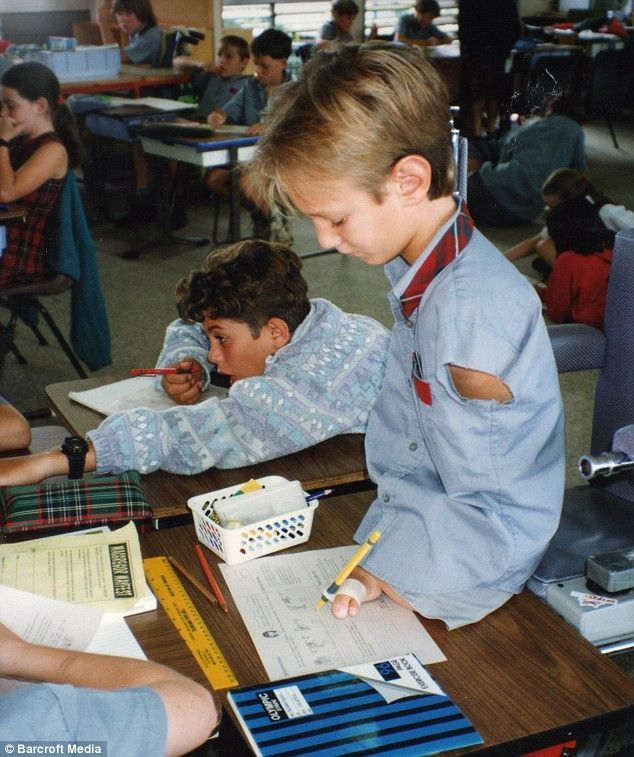 Nick Vujicic as a child. Wow! What a determined spirit.