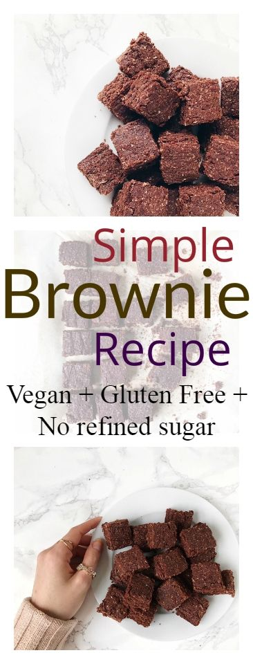 Simple Vegan Brownie Recipe | Nourish Your Glow