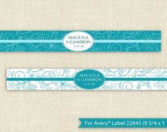 DOWNLOADABLE Water Bottle Label Template For Avery X - Avery water bottle template