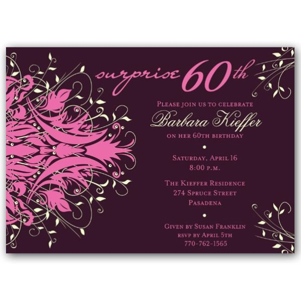 Download 60th Birthday Invitations For Mom This Invitation FREE At