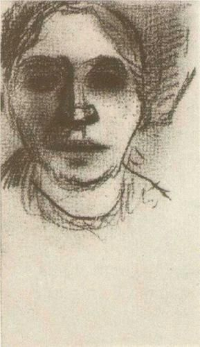 Peasant Woman, Head - Vincent van Gogh
