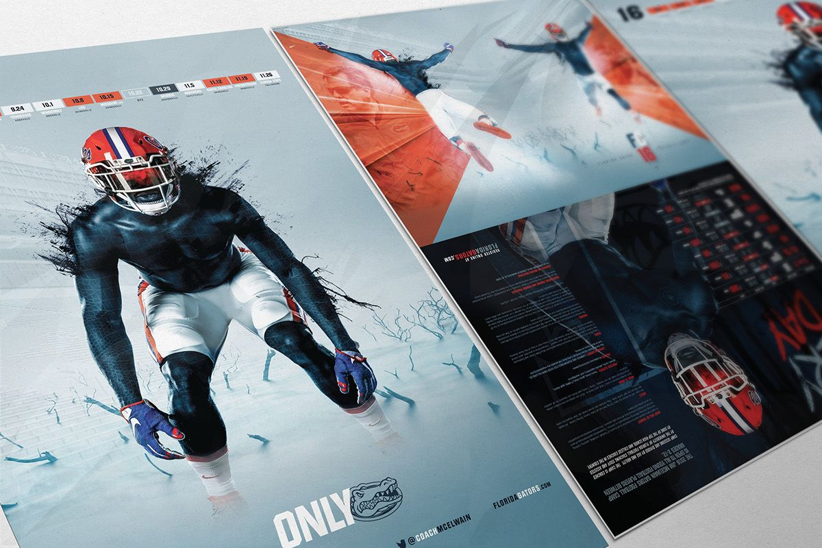 Brochure Design For The  Florida Gators Football Camp