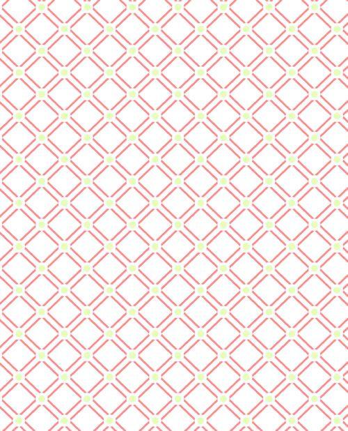 Pagoda Watermelon Lattice Fabric By The Yard Harp Fabric