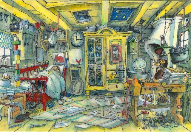 Karlsson On The Roof Astrid Lindgren By Marit Tornqvist Painting Illustration Art Fairytale Illustration