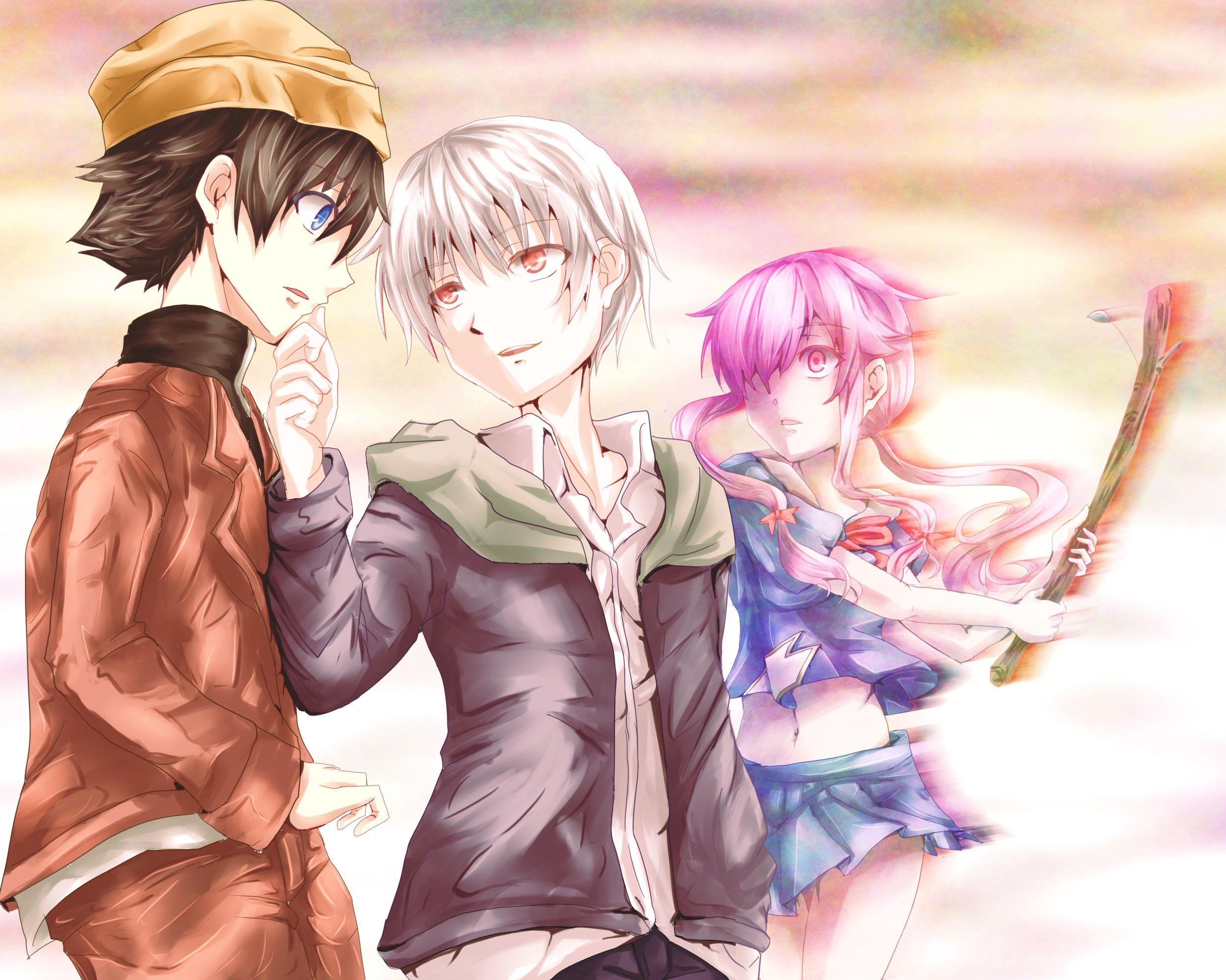 Mirai Nikki Yuno, Yuki & Akise imagens) Mirai