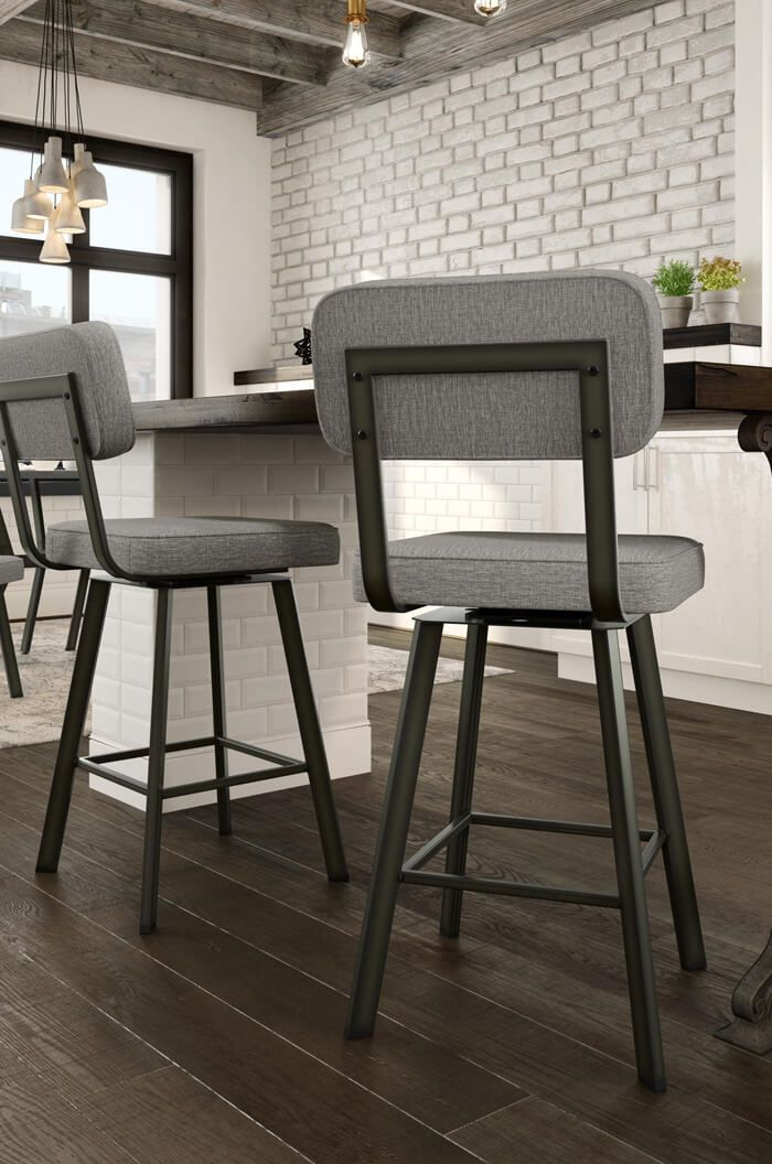 Buy Amisco Brixton Upholstered Swivel Bar Stool Free Shipping