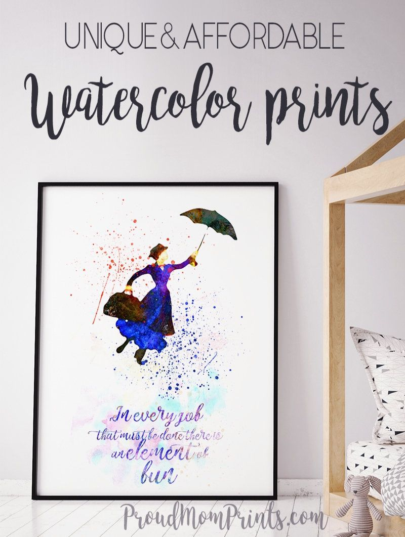 Mary Poppins Mary Poppins Gift Best Art Gifts Best Art Gifts Decoration Mary Poppins Wall Art Unique Gallery Wall Disney Sign Art Prints